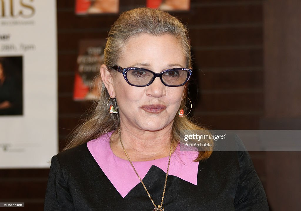 "Carrie Fisher Book Signing For ""The Princess Diarist"" : News Photo"