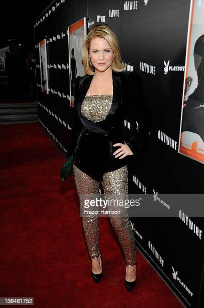 Actress Carrie Keagan arrives at Relativity Media's premiere of 'Haywire' cohosted by Playboy held at DGA Theater on January 5 2012 in Los Angeles...