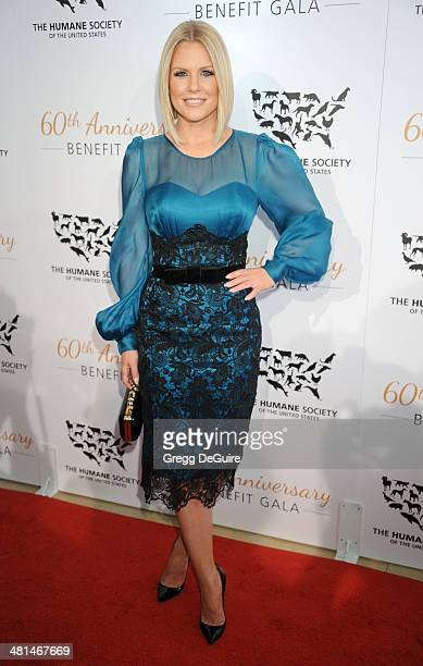 Actress Carrie Keagan arrives at The Humane Society Of The United States 60th anniversary benefit gala at The Beverly Hilton Hotel on March 29 2014...