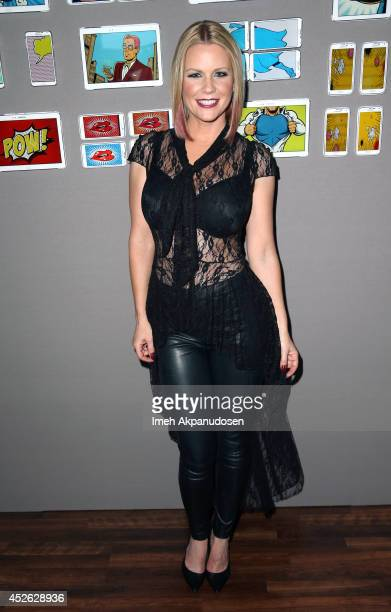 Actress Carrie Keagan attends the Samsung Galaxy VIP Lounge at ComicCon International 2014 at Hard Rock Hotel San Diego on July 24 2014 in San Diego...