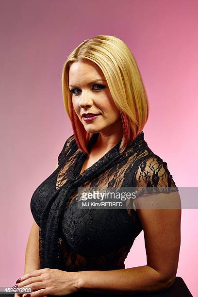 Actress Carrie Keagan poses for a portrait at Getty Images Portrait Studio powered by Samsung Galaxy at ComicCon International 2014 at Hard Rock...