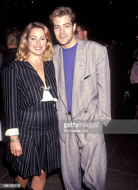 Actress Carrie Mitchum and actor Bentley Mitchum attend 'The Man in the Moon' West Hollywood Premiere on October 2 1991 at DGA Theatrte in West...