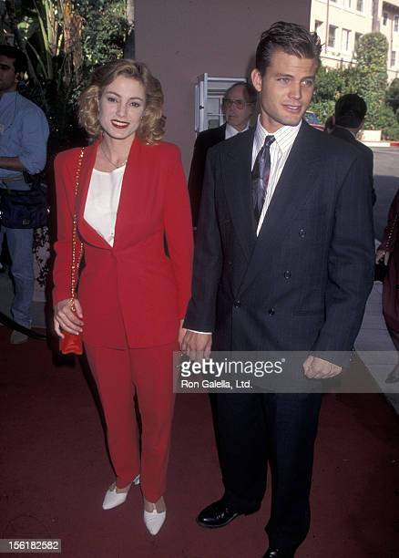Actress Carrie Mitchum and actor Casper Van Dien attend the Hollwyood Women's Press Club's 55th Annual Golden Apple Awards on December 10 1995 at...