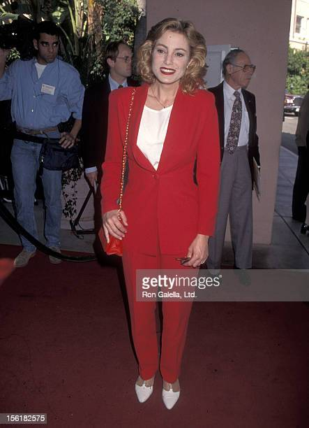 Actress Carrie Mitchum attends the Hollwyood Women's Press Club's 55th Annual Golden Apple Awards on December 10 1995 at Beverly Hills Hotel in...