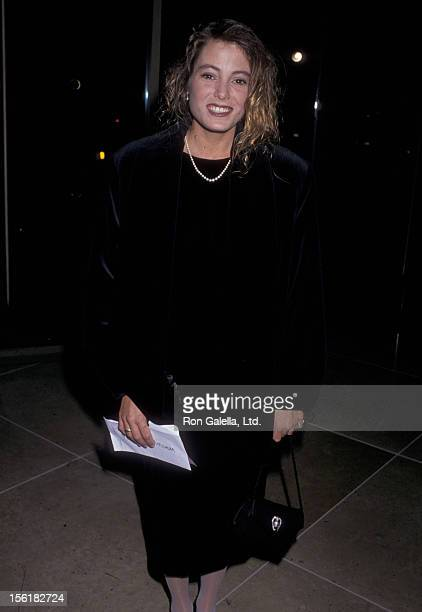 Actress Carrie Mitchum attends the Sixth Annual Soap Opera Digest Awards on January 14 1990 at Beverly Hilton Hotel in Beverly Hills California