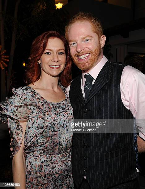Actress Carrie Preston and actor Jesse Tyler Ferguson attend the 2010 Entertainment Weekly and Women In Film Pre-Emmy party sponsored by L'Oreal...