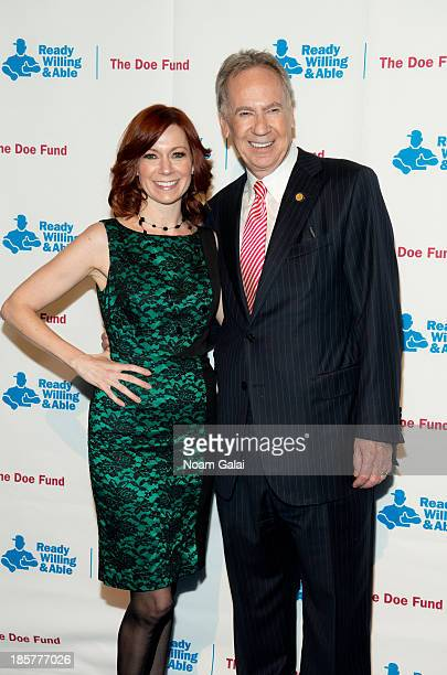 Actress Carrie Preston and George McDonald attend the 2013 Doe Fund gala at Cipriani 42nd Street on October 24, 2013 in New York City.