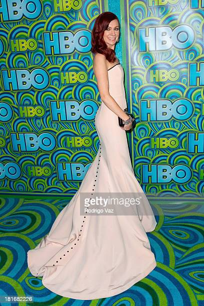 Actress Carrie Preston arrives at HBO's Annual Primetime Emmy Awards Post Award Reception at The Plaza at the Pacific Design Center on September 22...