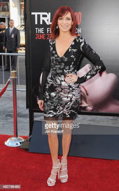 """Actress Carrie Preston arrives at HBO's """"True Blood"""" Final Season Premiere at TCL Chinese Theatre on June 17, 2014 in Hollywood, California."""