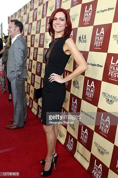 Actress Carrie Preston arrives at the 2011 Los Angeles Film Festival opening night premiere of Bernie held at Regal Cinemas LA Live on June 16 2011...