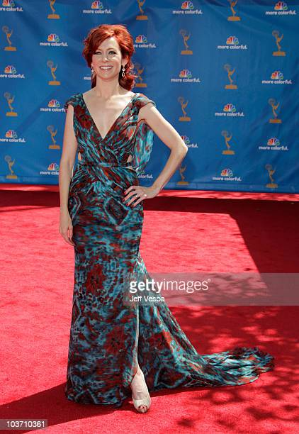 Actress Carrie Preston arrives at the 62nd Annual Primetime Emmy Awards held at the Nokia Theatre LA Live on August 29 2010 in Los Angeles California