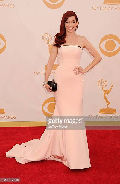 Actress Carrie Preston arrives at the 65th Annual Primetime Emmy Awards at Nokia Theatre LA Live on September 22 2013 in Los Angeles California