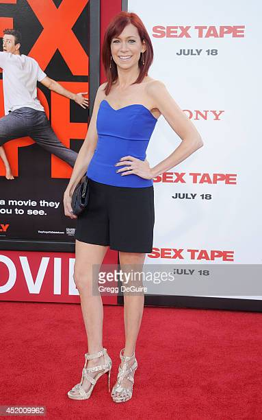 Actress Carrie Preston arrives at the Los Angeles premiere of 'Sex Tape' at Regency Village Theatre on July 10 2014 in Westwood California