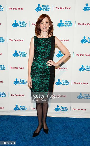 Actress Carrie Preston attends the 2013 Doe Fund gala at Cipriani 42nd Street on October 24, 2013 in New York City.