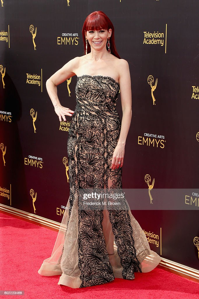 Actress Carrie Preston attends the 2016 Creative Arts Emmy Awards at Microsoft Theater on September 10, 2016 in Los Angeles, California.