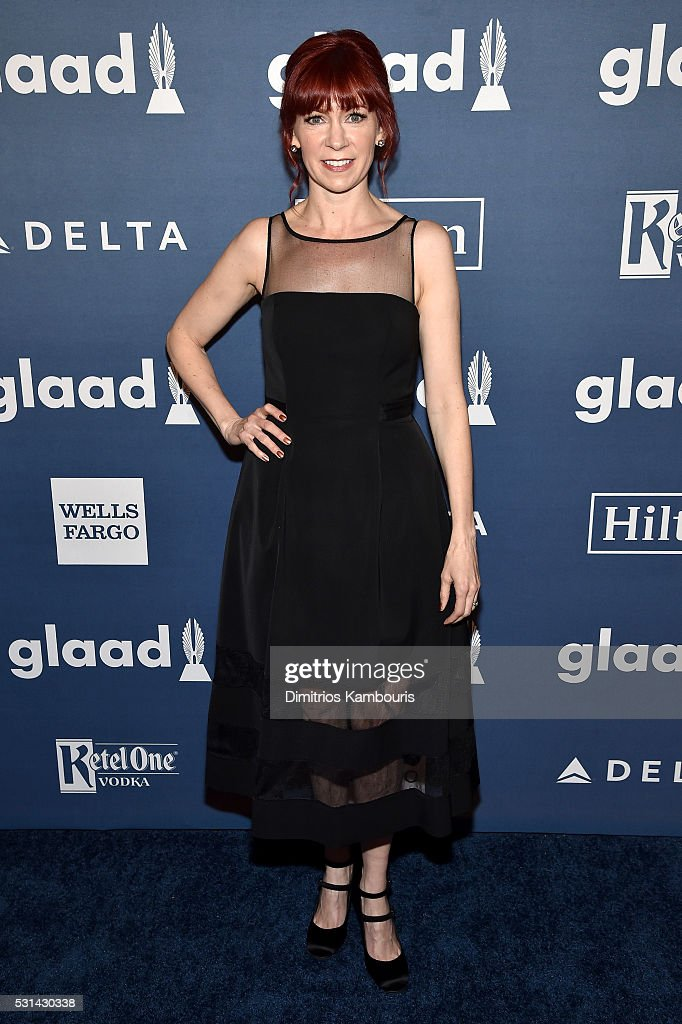 Actress Carrie Preston attends the 27th Annual GLAAD Media Awards in New York on May 14, 2016 in New York City.