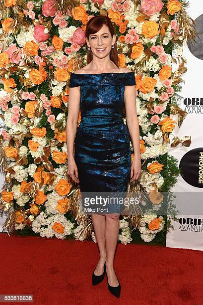 Actress Carrie Preston attends the 61st Annual Obie Awards at Webster Hall on May 23, 2016 in New York City.