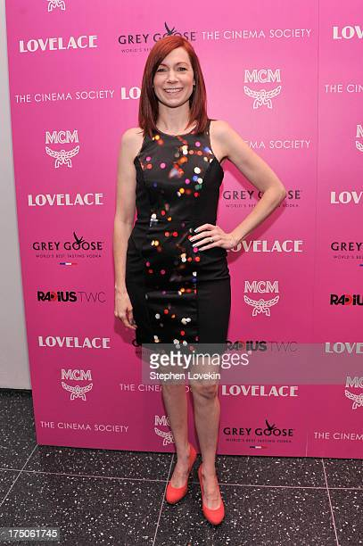 Actress Carrie Preston attends The Cinema Society and MCM with Grey Goose screening of Radius TWC's Lovelace at MoMA on July 30 2013 in New York City