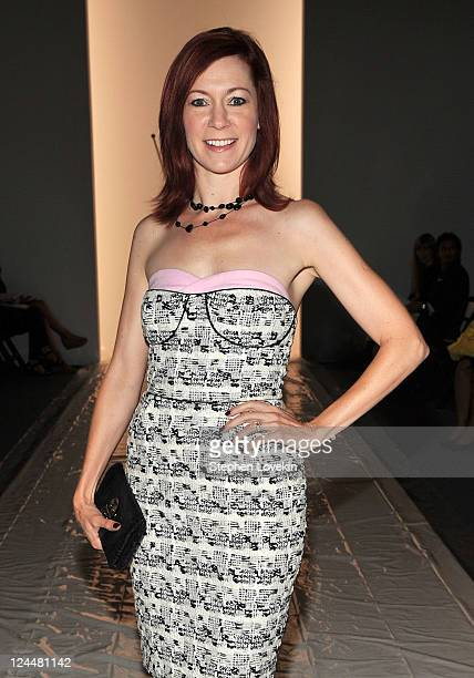 Actress Carrie Preston attends the Ruffian Spring 2012 fashion show during MercedesBenz Fashion Week at The Studio at Lincoln Center on September 10...