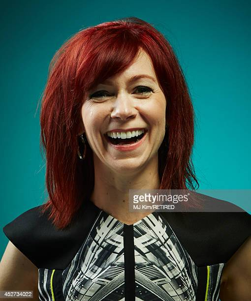 Actress Carrie Preston poses for a portrait at the Getty Images Portrait Studio powered by Samsung Galaxy at ComicCon International 2014 at Hard Rock...