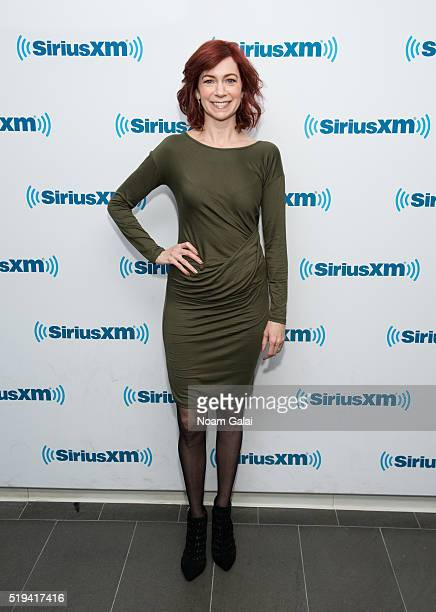 Actress Carrie Preston visits the SiriusXM Studios on April 6 2016 in New York City