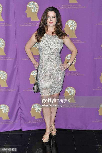 Actress Carrie Stevens attends The Jonathan Foundation's Fundraiser to Aid Children With Autism and Learning Disabilities at Marconi Automotive...
