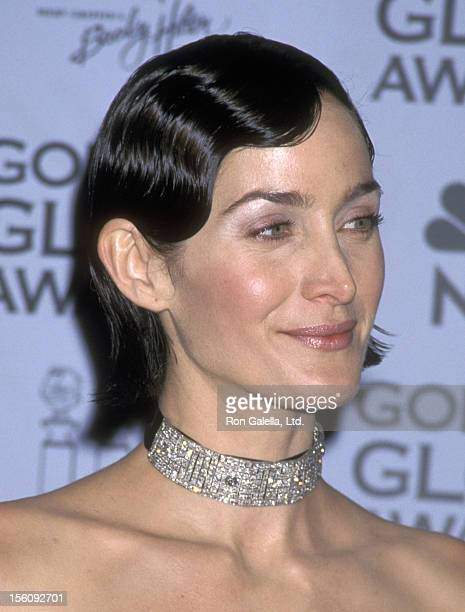 Actress CarrieAnn Moss attends the 59th Annual Golden Globe Awards on January 20 2002 at Beverly Hilton Hotel in Beverly Hills California