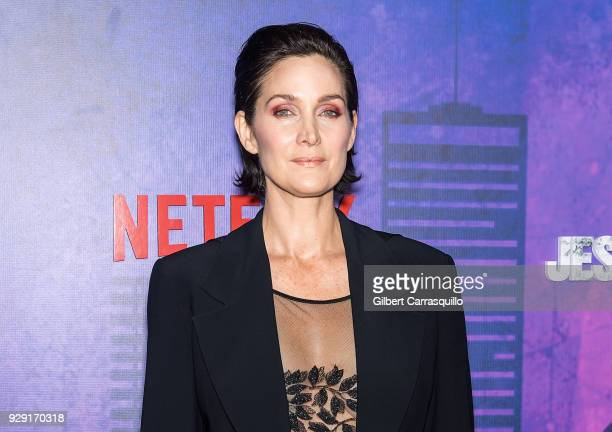 Actress CarrieAnne Moss attends Netflix's 'Marvel's Jessica Jones' Season 2 Premiere at AMC Loews Lincoln Square on March 7 2018 in New York City