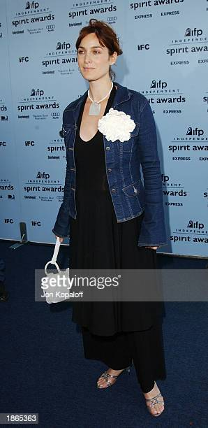 Actress Carrie-Anne Moss attends the 2003 IFP Independent Spirit Awards on March 22, 2003 in Santa Monica, California.