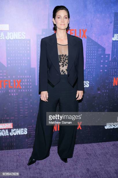 Actress CarrieAnne Moss attends the Jessica Jones Season 2 New York Premiere at AMC Loews Lincoln Square on March 7 2018 in New York City
