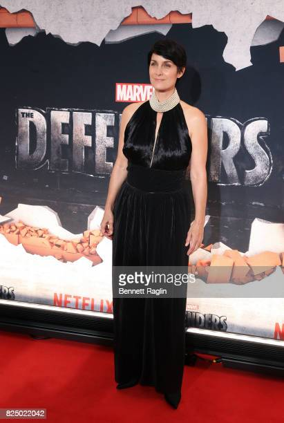 Actress CarrieAnne Moss attends the Marvel's The Defenders New York premiere at Tribeca Performing Arts Center on July 31 2017 in New York City