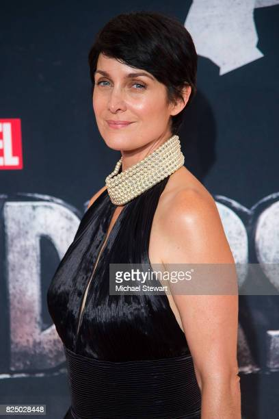 Actress CarrieAnne Moss attends the 'Marvel's The Defenders' New York premiere at Tribeca Performing Arts Center on July 31 2017 in New York City