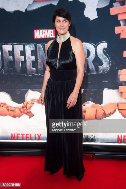 Actress Carrie-Anne Moss attends the 'Marvel's The Defenders' New York premiere at Tribeca Performing Arts Center on July 31, 2017 in New York City.