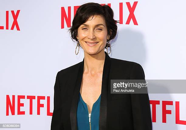Actress CarrieAnne Moss attends the Netflix original series' 'Marvel's Jessica Jones' FYC screening and QA at Paramount Studios on May 3 2016 in...