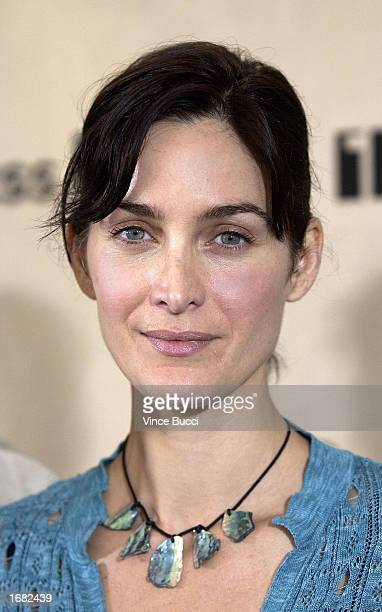 Actress CarrieAnne Moss attends the nominations announcement for the 2003 IFP Independent Spirit Awards on December 11 2002 in Beverly Hills...