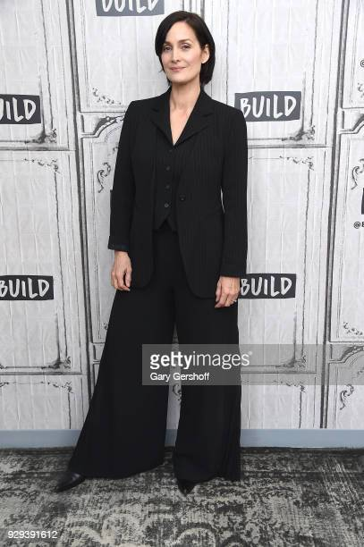Actress CarrieAnne Moss visits Build Series to discuss the series Jessica Jones at Build Studio on March 8 2018 in New York City
