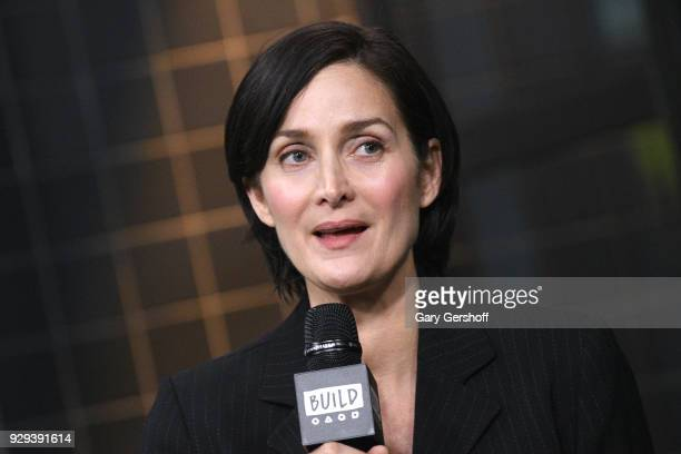 Actress CarrieAnne Moss visits Build Series to discuss the series 'Jessica Jones' at Build Studio on March 8 2018 in New York City
