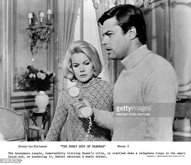 Actress Carroll Baker and actor Jean Sorel in a scene from the movie 'The Sweet Body of Deborah' circa 1968