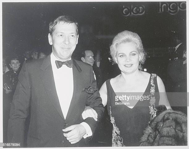 Actress Carroll Baker and her husband Donald Burton attending the premiere of Bob Fosse's Star 80 about the doomed Playboy model Dorothy Stratten in...
