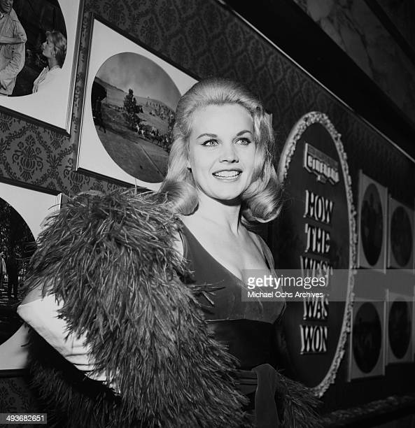 Actress Carroll Baker poses during the premier of 'How the West Was Won' on February 20 1963 in Los Angeles California
