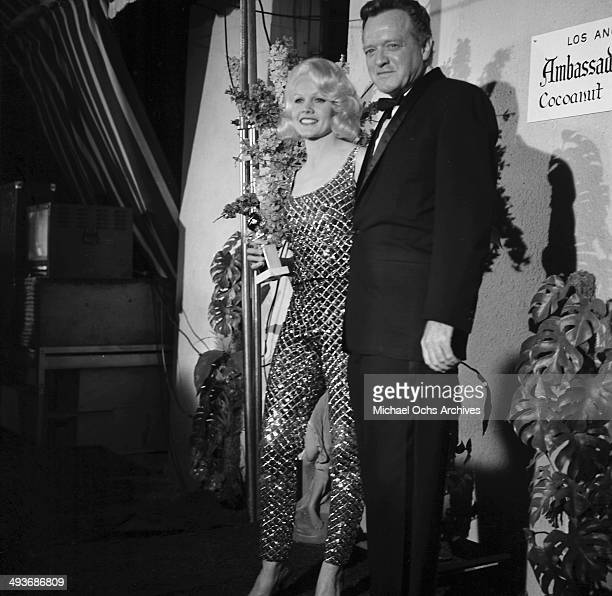 Actress Carroll Baker with Jack Garfein arrive at the Cocoanut Grove in Los Angeles California