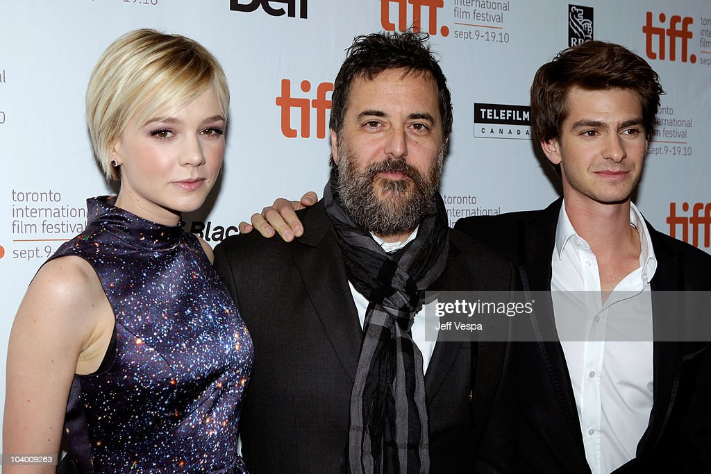 Actress Carry Mulligan, director Mark Romanek and actor Andrew Garfield arrive at the 'Never Let Me Go' Premiere held at the Ryerson Theatre during the 35th Toronto International Film Festival on September 11, 2010 in Toronto, Canada.