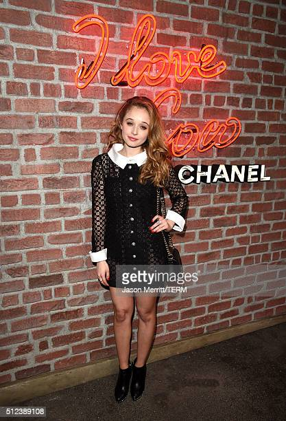 Actress Carson Meyer attends the I Love Coco Backstage Beauty Lounge at Chateau Marmont's Bar Marmont on February 25 2016 in Hollywood California