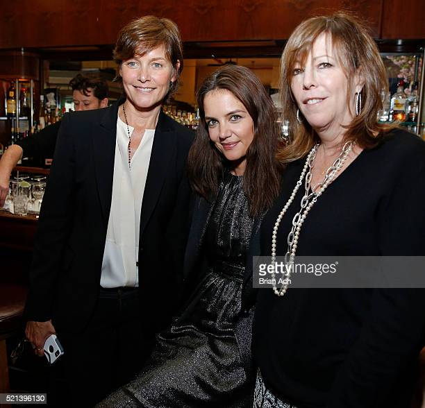 Actress Cary Lowell actress and director Katie Holmes and Tribeca Film Fesitval CoFounder Jane Rosenthal are seen during the Chanel's Women...
