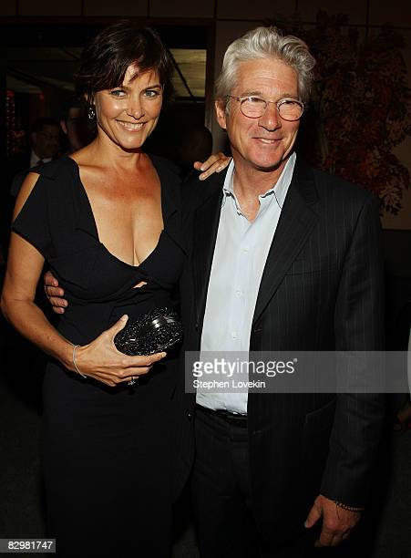 Actress Cary Lowell and actor Richard Gere attend the premiere after party for Nights in Rodanthe at The Four Seasons restaurant on September 23 2008...