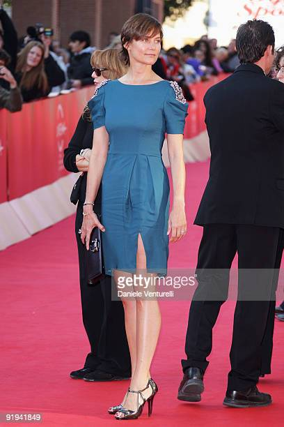 Actress Cary Lowell attends the 'Hachico A Dog's Story' Premiere during day 2 of the 4th Rome International Film Festival held at the Auditorium...