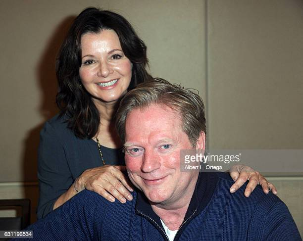 Actress Caryn Richman and actor Dean Butler attend The Hollywood Show held at The Westin Los Angeles Airport on January 7 2017 in Los Angeles...