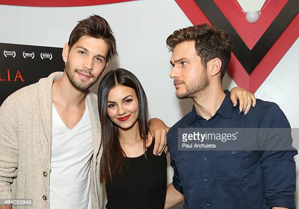 Actress Casey Deidrick Victoria Justice and Ryan Cooper attend the Julia special screening and QA on October 23 2015 in Burbank California