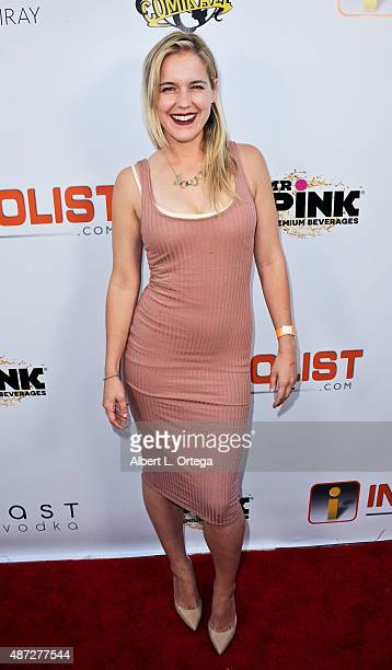 Actress Casey Fitzgerald arrives for the Pre LA ComicCon Party Celebrating All Things Comic Book SciFi Fantasy And Cosplay held at Sofitel Hotel on...