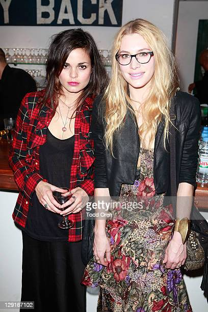 Actress Casey LaBow and guest pose at the Emily Factor And Heritage Artisan Accessory Brand Alex Lee Collaborate On SpringSummer 2012 Collection...
